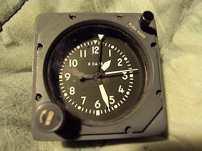 Military Aircraft 8 Days Clock Stop/Go Switch Manual Wind 5-Pin Cable Connection