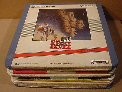 Lot of 13 RCA SelectaVision VideoDisc Movies Capacitance Electronic Disc System