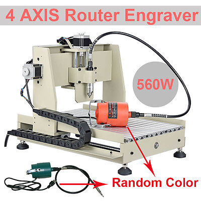 4 AXIS 3040 CNC ROUTER ENGRAVER/ENGRAVING DRILLING & MILLING MACHINE TOOL Mach3