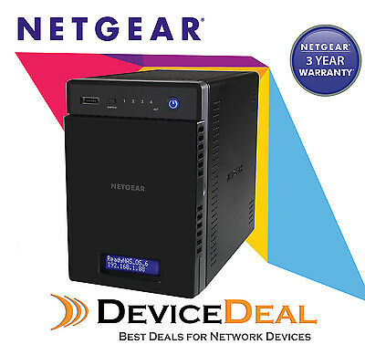 NETGEAR RN21400-100AJS ReadyNAS 214 4 Bay Diskless NAS - 1.4Ghz QuadCore 2GB RAM