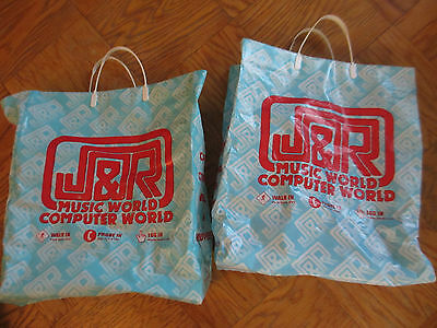 Two Vintage J&R Music bags rare collectibe  Vinyl Records Video Books