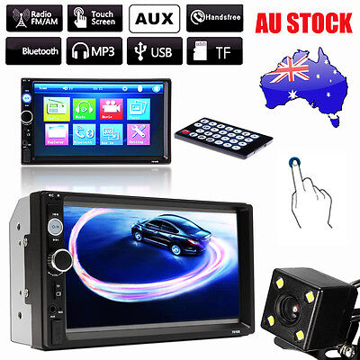 7'' 2 DIN Bluetooth Head Unit Car Stereo MP5 Player Radio FM USB AUX + Free Cam