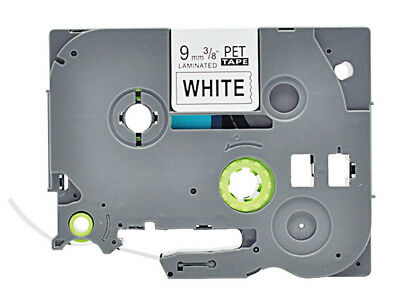 9mm Black on White TZ-221 Label Tape Compatible For Brother P Touch TZe-221
