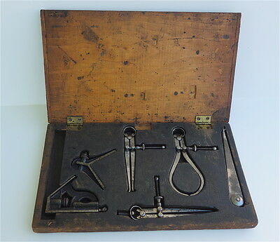 Antique 1800s Measuring TOOLS by L.S. STARRETT CO. - 6 pc in BOX