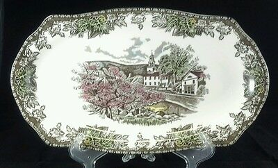 "Johnson Brothers Friendly Village One (1) 12 3/4"" Sandwich Tray Plate Free Ship"