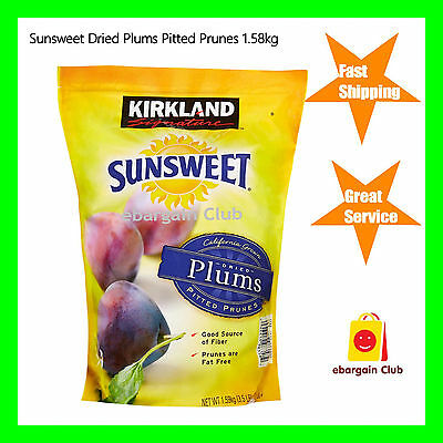 Sunsweet Dried Plums Pitted Prunes 1.58kg Bulk Pack