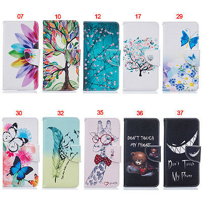 Teeth Wallet Leather Flip Case Cover For Sony 10 XA XA1 XA2 Ultra XZ1 L1 L2 XZ2
