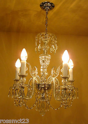Vintage Lighting high quality Czech crystal chandelier by Weiss and Biheller