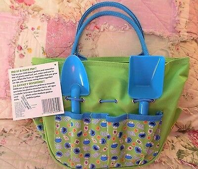SESAME STREET My 1st Gardening Kit: Tote Tools Pots Seeds Instructions NEW