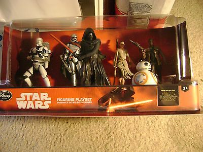 Disney Star Wars VII The Force Awakens hard plastic figures Rey,kylo Ren