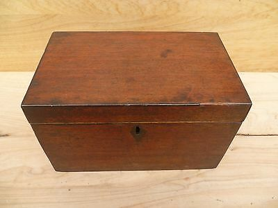 Antique, Old English Timber Vanity Lidded Box, Old Box (A783)