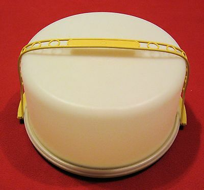 Large Cake Carrier - Tupperware 1256 + 1257 + 1258 VG Condition Has Handle