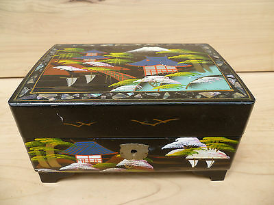 Vintage Old Large Size Asian Style Music Box
