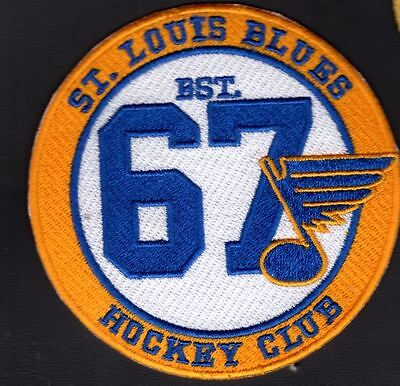 "St. Louis Blues Patch ""hockey Club"" Vintage Style Nhl Stanley Cup Champions"