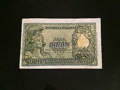Italy Banknote 50 Lire 1951
