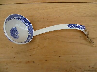 English Made Spode Blue And White Kitchen Ladle (454)