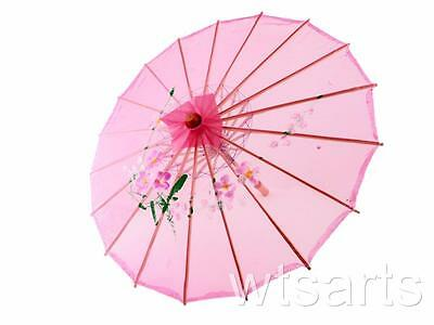 Medium Chinese Floral Parasol Geisha Umbrella - 83cm Dia