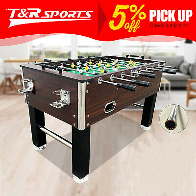 2017 New Model 5Ft Walnut Soccer / Foosball Table 4 Drink Holders Metal Bearing