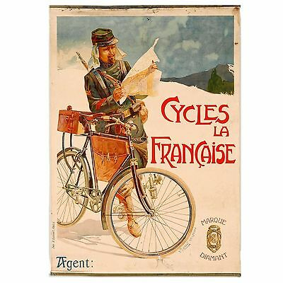 French cycle poster, original, Vincent Lorant-Heilbronn, circa 1900