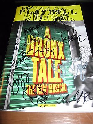 A Bronx Tale Broadway playbill autographed by Cast