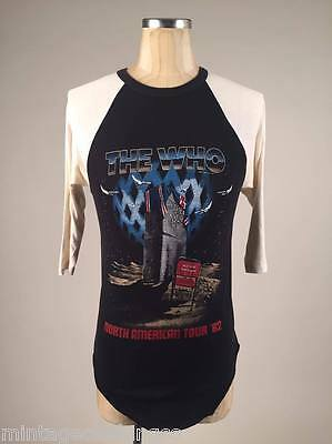 Vintage Concert T Shirt The Who Size Medium Made in USA Original NA TOUR 1982