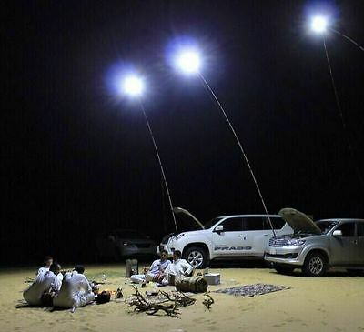 12V LED Camping Lights 4 Meters Telescopic Fishing Pole Outdoor Battery Light