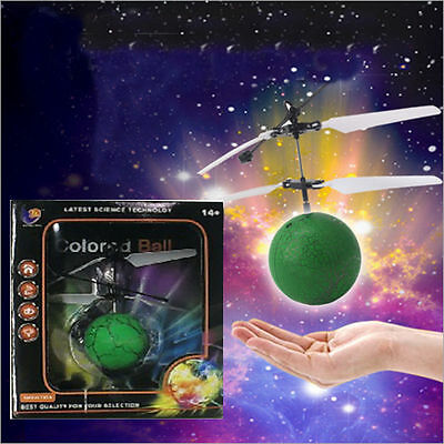 US Flying RC Remote Control  Induction Aircraft Helicopter  Flying Ball Toy LED