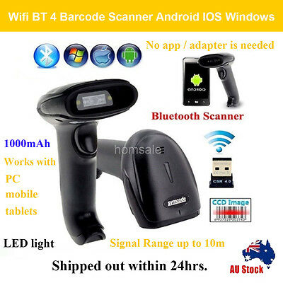 Wireless Bluetooth 4.0 Barcode Scanner Reader For Android  Apple IOS Windows 7/8