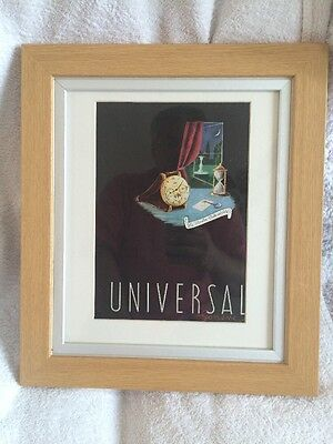 1940s Universal Genève Swiss Watch Calandrier Fashion Advert French VintageRetro
