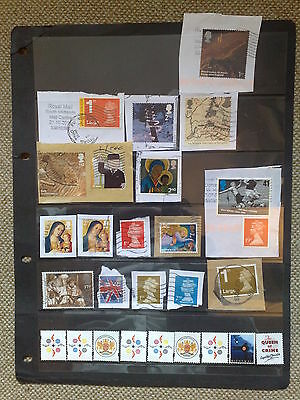 Mixture 85+ Gb Franked Unfranked On / Off Piece Machins Commems Assorted