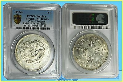 China :- Kiangnan Province Silver Dragon Dollar (LM.257) Slabbed by PCGS Genuine