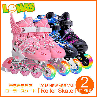 Kids Adults Roller Blades Inline Skates Adjustable Size Christmas Gifts