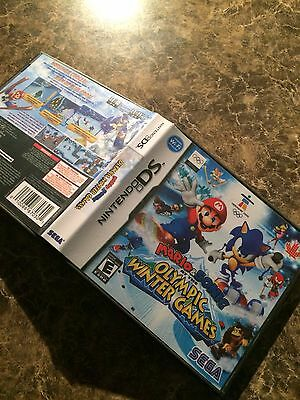 MARIO & SONIC OLYMPIC WINTER GAMES (Nintendo DS) REPLACEMENT CASE ONLY