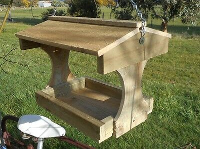 New Model  Hanging Bird feederWooden for wild birds Some assembly required