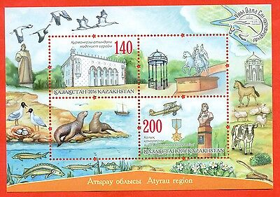 Kazakhstan 2016.NEW!!!Atyrau region.Fauna.Seals.Aircraft.Momument.Fish.