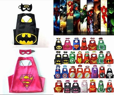"HOT Superhero Cape for kids birthday party favors and ideas ""(1 cape+1 mask)"