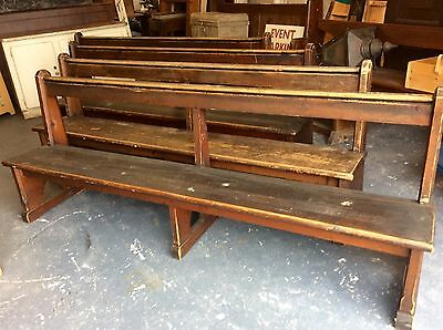 Vintage Pine Church Pew * Two Available * 7ft Long
