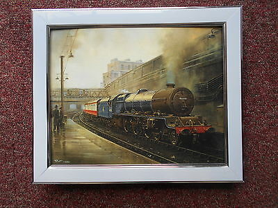 Malcolm Root Steam Train print 'Arrival Of A Princess' FRAMED