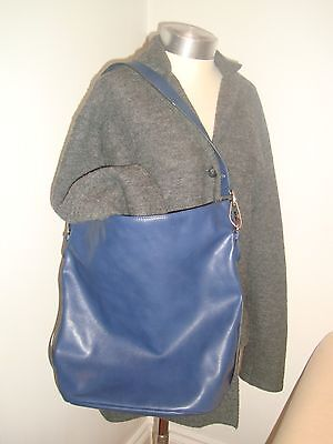 Accessorize Navy Blue Large Lagenlook  Faux Leather Tote Style  Shoulder Bag