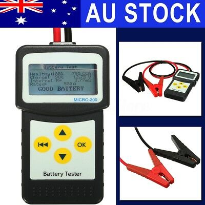 AU 12V LCD Car Battery Load Tester Analyzer Digital Diagnostic AGM GEL Micro-200