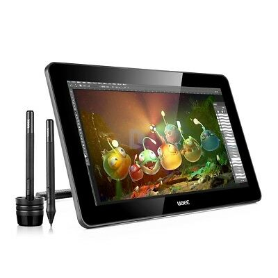 """Ugee HK1560 15.6"""" IPS HD Drawing Graphic Tablet Monitor 5080 LPI +Protector New"""