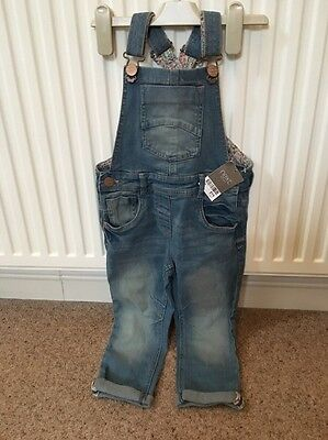 Next Dungarees Age 3-4 Bnwt