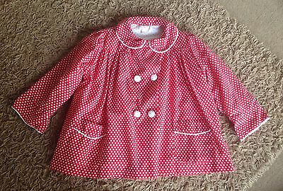 Red Polka Dot Girl Infant Winter Coat 4-5 Years Autumn Winter Coat