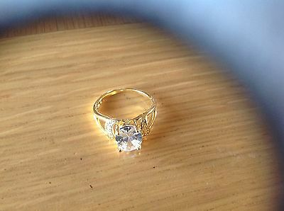 A  Really Stunning Ladies'Ring with a Large Single 'Stone' Size P .beach find