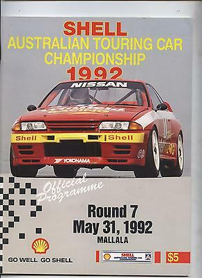1992 Mallala Programme Shell Touring Racing Ford Holden Commodore Corolla