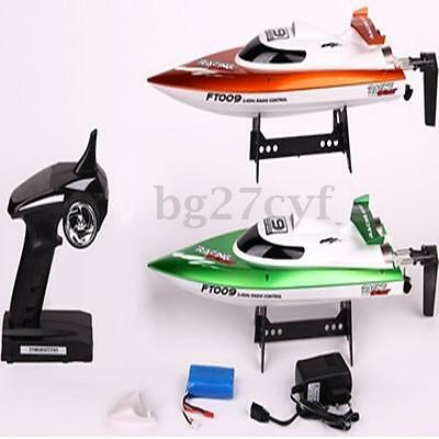 Feilun FT009 2.4G 4CH Water Cooling High Speed Racing RC Boat With Lipo Battery
