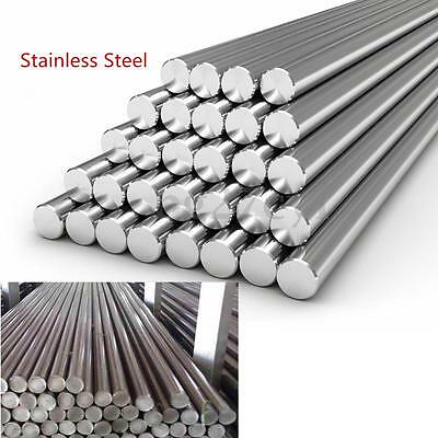 Stainless Steel 304 201 Round Solid Metal Bar Rod Dia 3-14mm Length 125mm-500mm