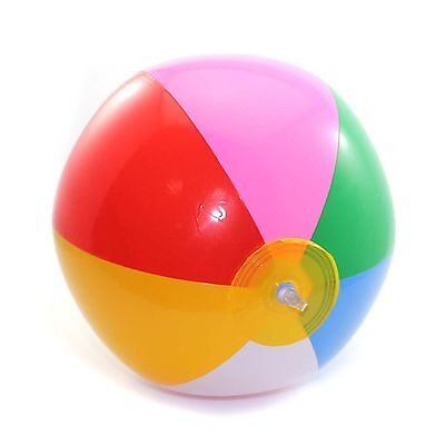 Colorful Swimming Pool Inflatable Rubber Beach Ball Children Kids Fun Toy New
