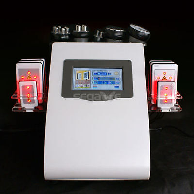 Ultrasonic Cavitation 6in1 Radio Frequency Vacuum Cellulite Machine Weight Loss