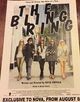 Promotional Movie Flyer For The Bling Ring